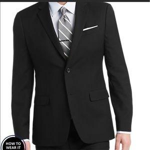 EGARA Italian Black Blazer Slim Fit Sport Coat 38R